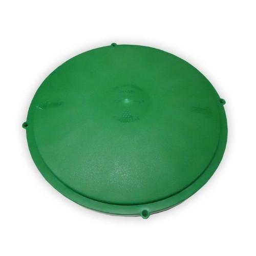 """Tuf-Tite 16"""" Domed Riser Lid (Green)"""