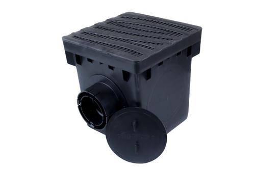 "NDS 12"" Catch Basin Kit w/ Black Decorative Wave Grate"