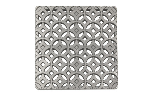 "12"" Catch Basin Kit w/ Cast Iron Decorative Interlaken Grate"