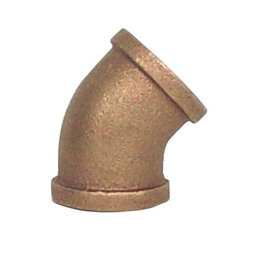"""1 1/2"""" Bronze 45 Elbow (1/8) (FPT x FPT)"""
