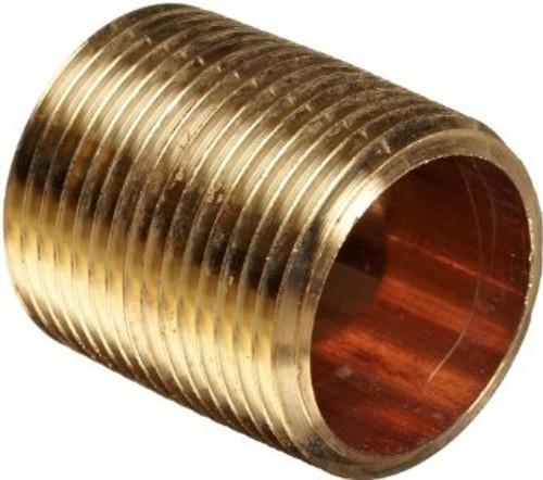 """1 1/2"""" x Close Brass Nipple (MPT x MPT)"""