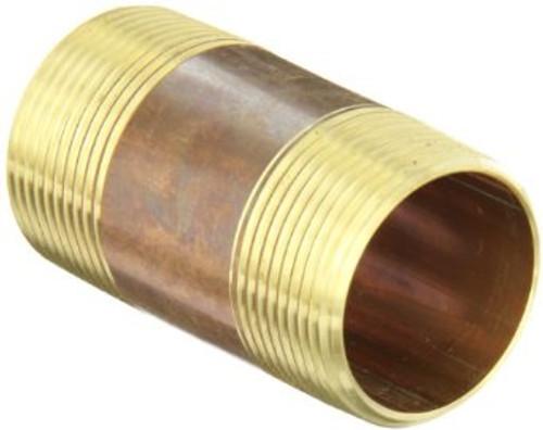 """3/4"""" x 1 1/2"""" Brass Nipple (MPT x MPT)"""