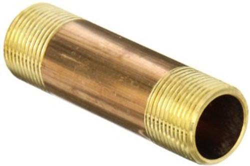 """3/4"""" x 5"""" Brass Nipple (MPT x MPT)"""