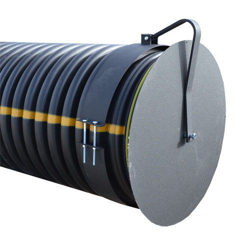 """Flap Gate 30"""" for Corrugated Plastic Pipe"""