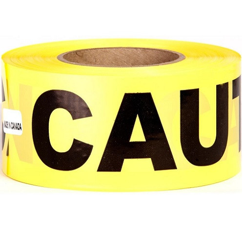 "3"" x 1000' Caution Tape (Box of 8)"