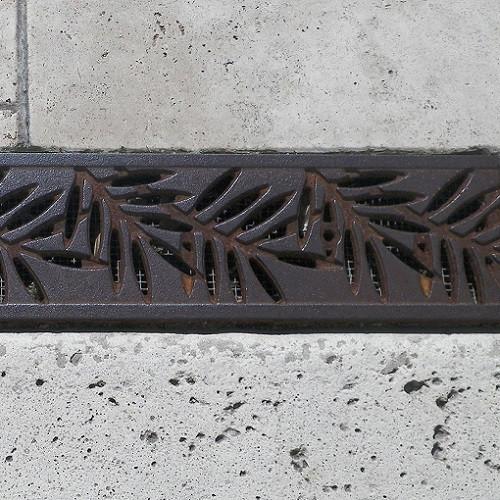 Iron Age Raw Cast Iron Dura Slope Locust Grate