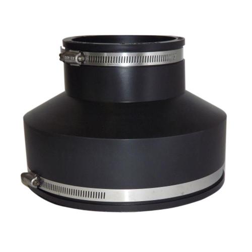 "PVC  8"" x 6"" Flexible Coupling (Clay x CI/Plastic)"