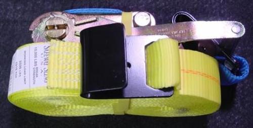 """2"""" x 27' Flat Hook Ratchet Strap  (3,335 lb. / 10,0000 lb.)"""