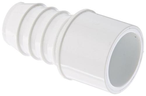 """1 1/2"""" PVC Pipe Insert Adapter (Insert x Spigot) (White)"""