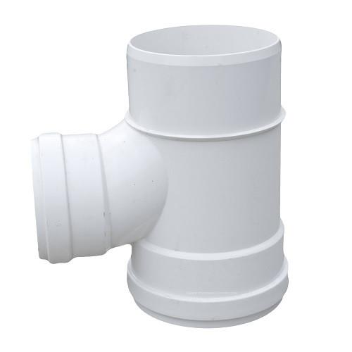 "6"" PVC SDR35 Gasket Joint Spigot Sanitary Tee (G x G x Sp)"