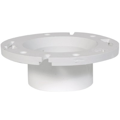 """PVC DWV Closet Flange (Fits over 3"""" pipe or inside 4"""" pipe)"""