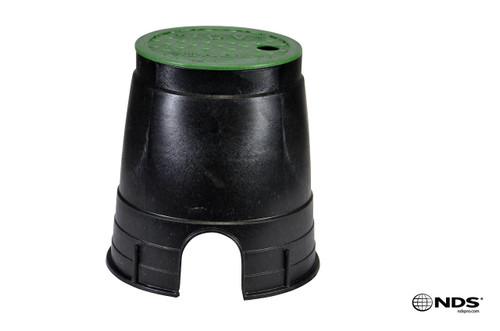 "NDS Valve Box 6"" ICV (Black Box / Green Cover)"