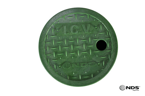 """NDS 6"""" Round Valve Box Cover ONLY (Green Cover)"""