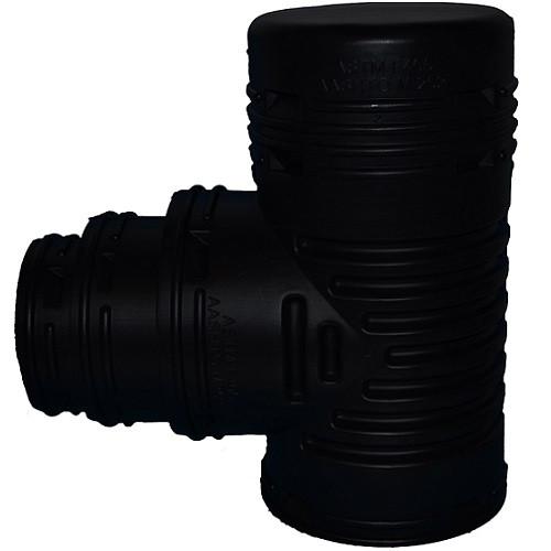 """HDPE 6"""" x 6"""" x 6""""-5""""-4"""" Singlewall Blind Reducing Tee (BE)"""