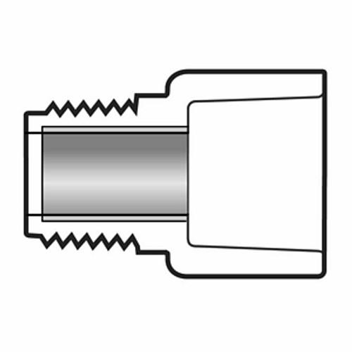 """1"""" PVC Schedule 80 Steel Reinforced Male Adapter"""