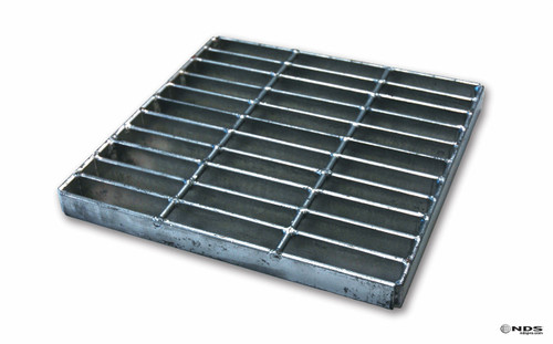 "NDS 12"" Catch Basin Kit w/ Galvanized Metal Grate"