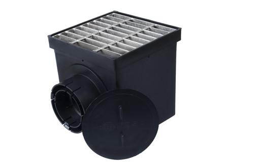 "NDS 9"" Catch Basin Kit w/ Galvanized Metal Grate"