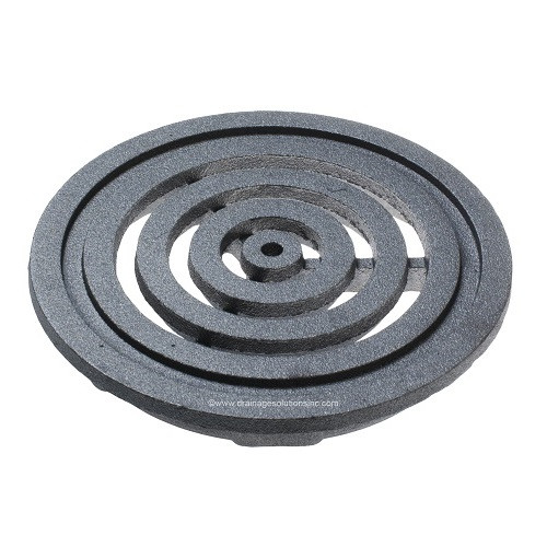 "Iron Age Raw Cast Iron Bullseye 6"" Round Grate"