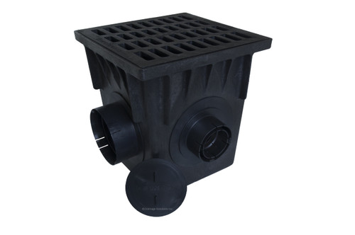 "NDS 18"" Four Hole Catch Basin Kit w/ Cast Iron Grate"