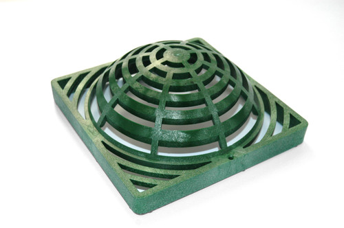 """NDS Square Plastic Atrium Grate for 9"""" Basin - Green (Each)"""