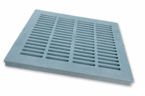 """NDS Square Plastic Grate For 18"""" Basin - Gray"""