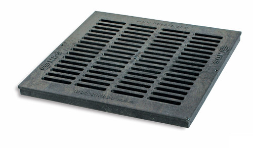 """NDS Square Plastic Grate For 18"""" Basin - Black"""