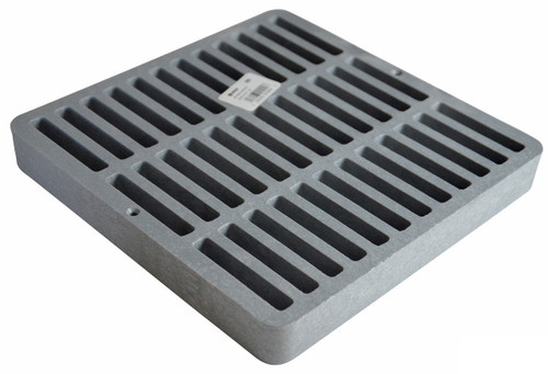 """NDS Square Plastic Grate for 9"""" Basin - Gray (Each)"""