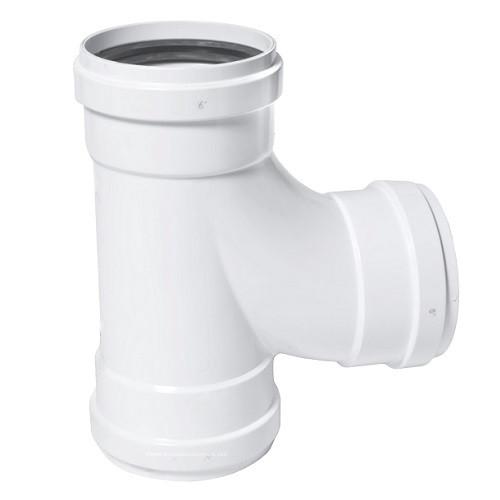 """4"""" PVC SDR26 Heavy Wall GJ Sanitary Tee (G x G x G)"""