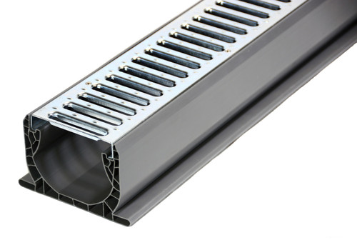 NDS Spee-D Channel Drain Kit w/ Galvanized Metal Grate
