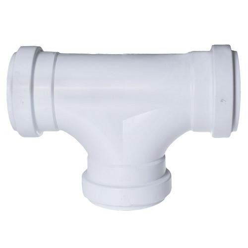 "4"" PVC SDR35 Gasket 2 Way Cleanout Tee  (G x G x G)"
