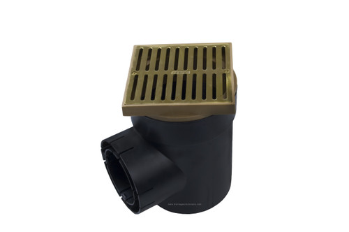 NDS Spee-D Basin Single Outlet Square Satin Brass Kit