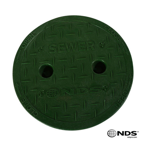 "NDS 6"" Valve Box Sewer Cover ONLY - Green"