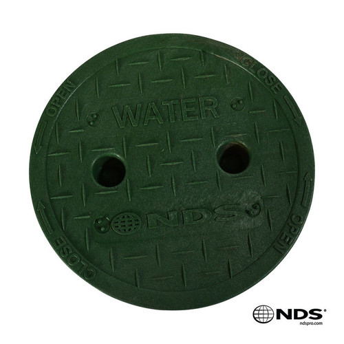 "NDS 6"" Valve Box Water Cover ONLY - Green"
