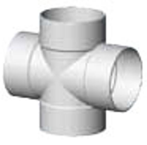 "6"" x 6"" x 6"" x 6"" PVC SDR35 Solvent Weld Cross Tee (S x S x S x S)"