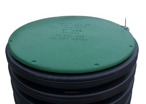 "15"" Plastic Septic Riser Cover (Green)"