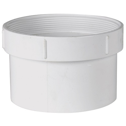 """4"""" PVC SDR35 Solvent Weld Cleanout Adapter (Sp x FPT)"""