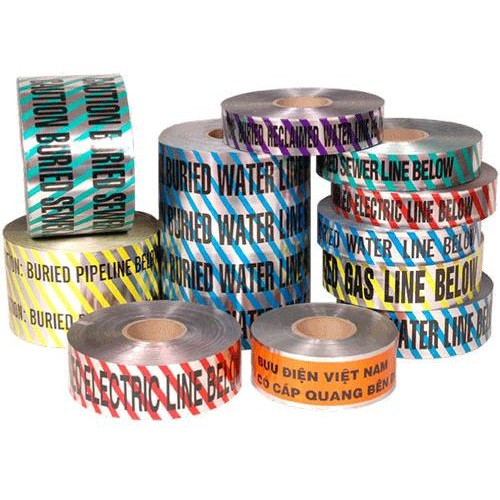"2"" X 1000' Blue Detectable Marking Tape - Water"