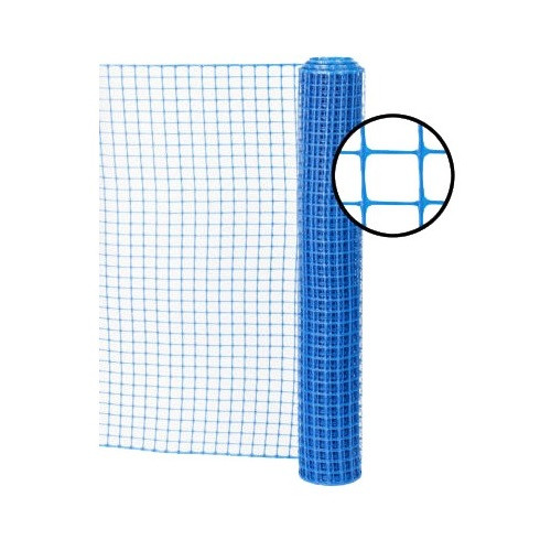 4' x 100' Blue Safety Barrier Fence - Square Mesh
