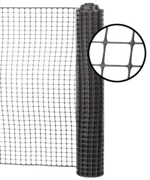 4' x 100' Black Safety Barrier Fence - Square Mesh