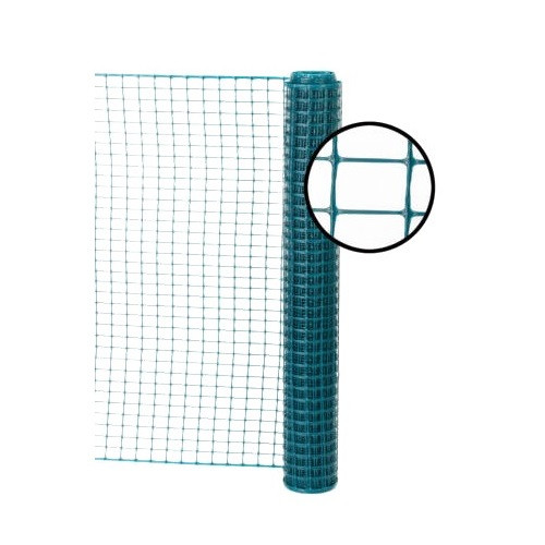 4' x 50' Green Safety Barrier Fence - Square Mesh