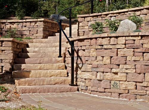 """Decorative Retaining Wall Drain 6"""" x 6"""" (Desert Stone)"""