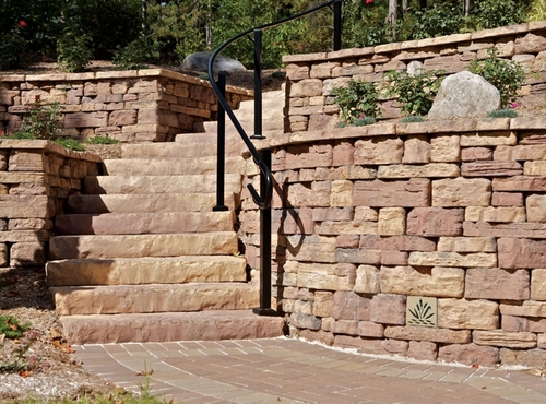 """Decorative Retaining Wall Drain 5"""" x 5"""" (Desert Stone)"""