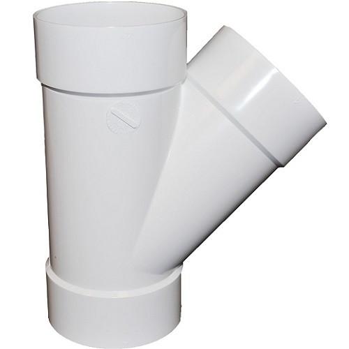 "10"" PVC SDR35 Solvent Weld Wye (S x S x S)"