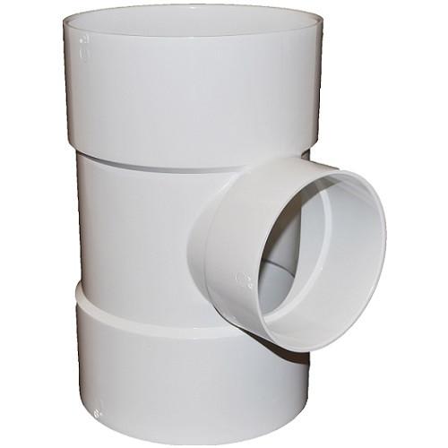 "10"" x 6"" PVC SDR35 Solvent Weld Tee (S x S x S)"