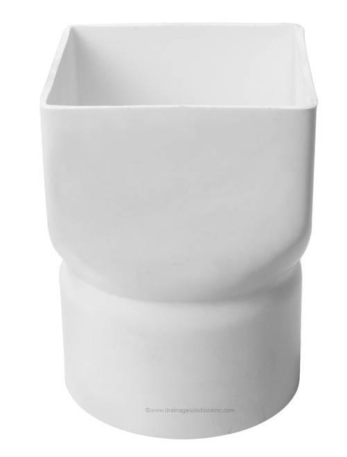 """PVC 12"""" x 12"""" x 12"""" IPS Downspout Adapter (Centered) (DS x Hub)"""