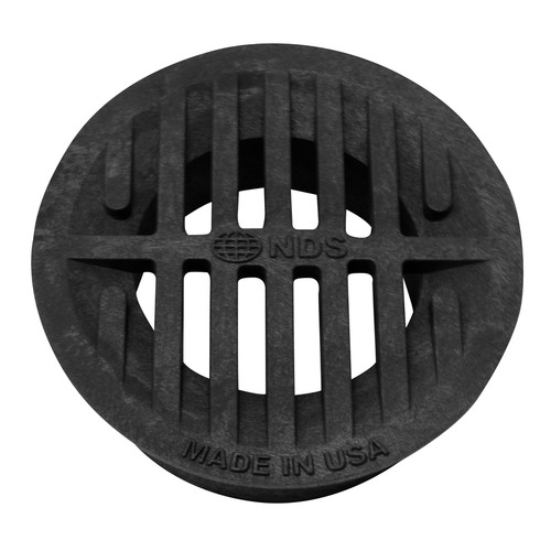 """NDS  3"""" & 4"""" Universal Round Grate - Black"""