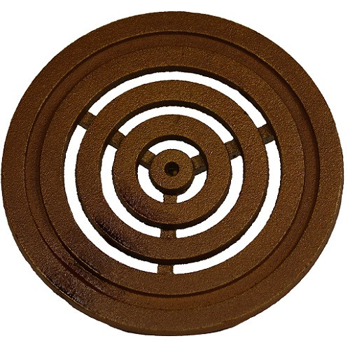 "Iron Age Baked on Oil Finish Cast Iron Bullseye 6"" Round Grate"