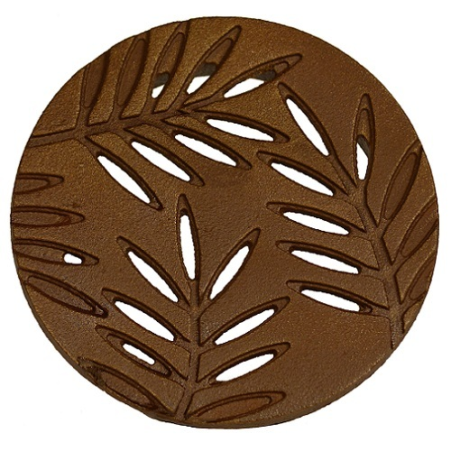 "Iron Age Baked on Oil Finish Cast Iron Locust 6"" Round Grate"