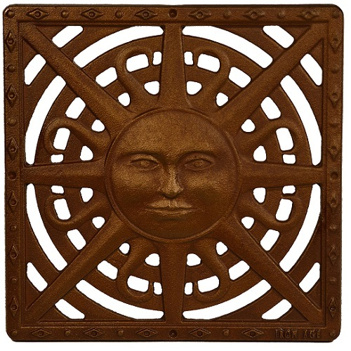 "Iron Age Baked on Oil Finish Cast Iron Sun Drain Grate for 12"" Basin"