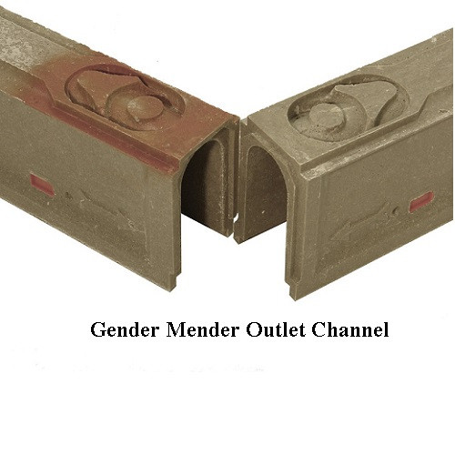 """ABT Polydrain 6"""" Gender Mender Modified Channel 100GM"""